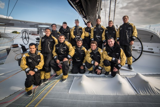 Spindrift Crew für Jules Verne Trophy 2016 - Photo Eloi Stichelbaut / Spindrift