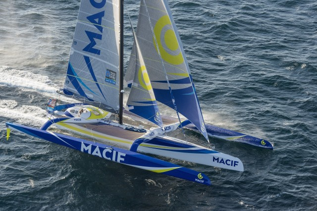 Sieger in der Class Ultime beim TJV mit dem Maxi Tri MACIF - Photo Vincent Curutchet / DPPI / MACIF