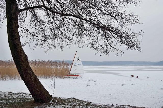 Gudowo, DN-Schlitten, Eissegeln, Großer Lübbesee, Polen, Photo © SailingAnarchy.de, 2016