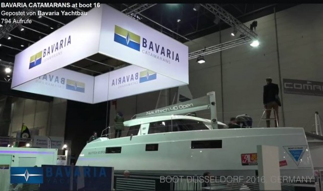 Nautitech 40 - Enklave in Halle 15 Düsseldorf 2016 - Screenshot © Bavaria Yachtbau Video