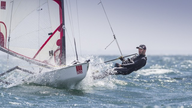 Tom Wright - GBR - 11th June 2016. ACO Musto Skiff Worlds. Carnac, France - Photo © Ian Roman Photography