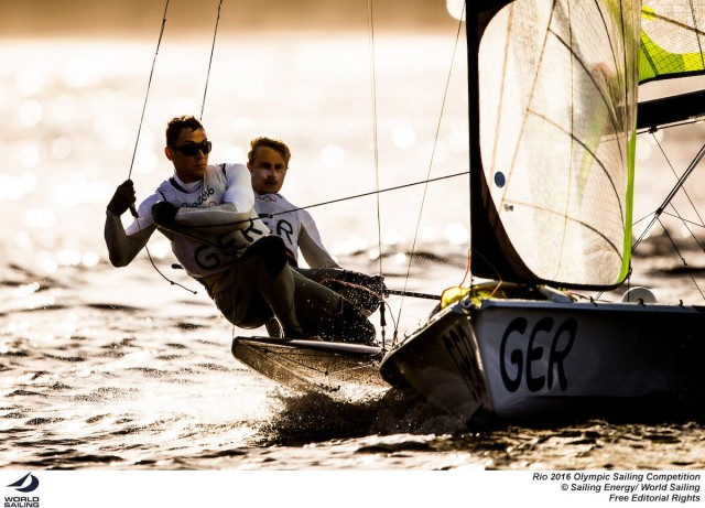 Rio 2016 - 49er - Erik Heil und Thomas Plößel - Photo © Sailing Energy / World Sailing