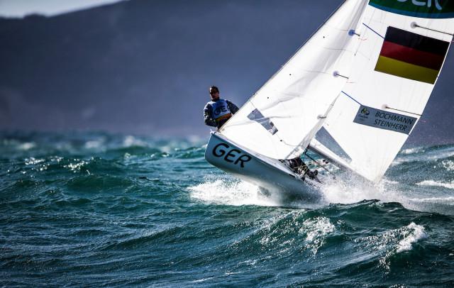 Rio 2016 - Starkwind auf der Regattabahn der 470er - Annika Bochmann und Marlene Steinherr - Photo © Sailing Energy