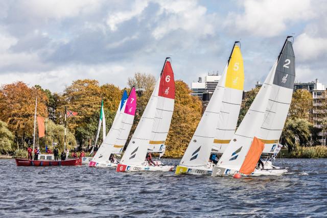 Flotte vor Hamburg © DSBL/Lars Wehrmann