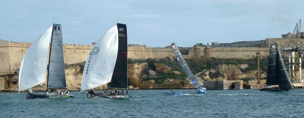2 hin, 2 zurück: RC44 Match Racing in Valettas Port il-Kbir/Grand Harbour