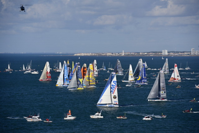 Start of the Vendee Globe, in Les Sables d'Olonne, France, on November 6th, 2016 - Photo Vincent Curutchet / DPPI