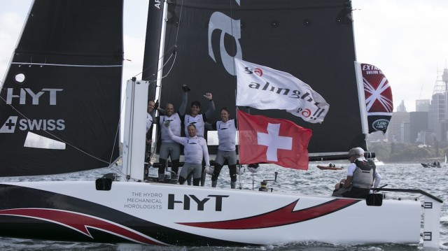 Team Alinghi holt sich den Sieg und Titel in der Extreme Sailing Series 2016 in Sydney - Photo © ESS