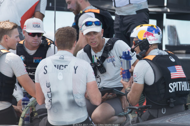 17/06/2017 - Bermuda (BDA) - 35th America's Cup 2017 - 35th America's Cup Match Presented by Louis Vuitton, Race day 1 - James Spithill und OTUSA Crew