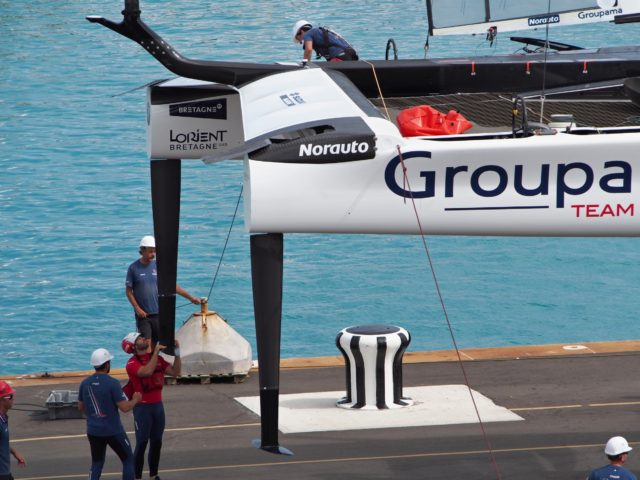 Groupama - Ruderanlage - 35th Americas Cup auf Bermuda, Mai 2017, Round Robin 1 - Louis Vuitton Cup - Photo © Anarchist Alex