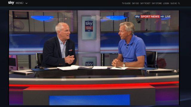 35th America´s Cup 2017 - Sky Sport Live - Kommentatoren Mallwitz und Schümann - Screenshot © Sky Sport News