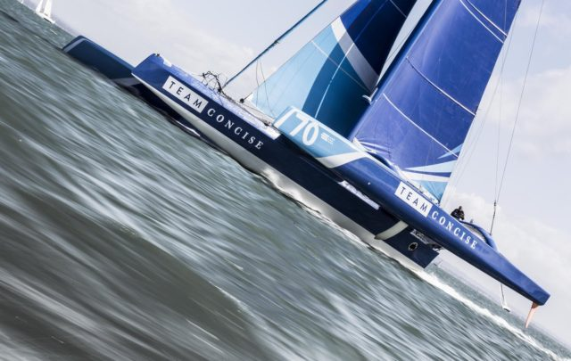 Team CONCISE - Schnellste Yacht beim Round the Island Race 2017