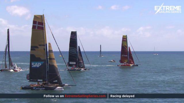 Extreme Sailing Series - Madeira - Startverschiebung - Livestream © Screenshot EXSS 2017