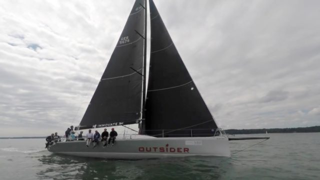 OUTSIDER - Elliot 52SS - Round the Island Race 2017 - Screenshot © VR Sport.tv