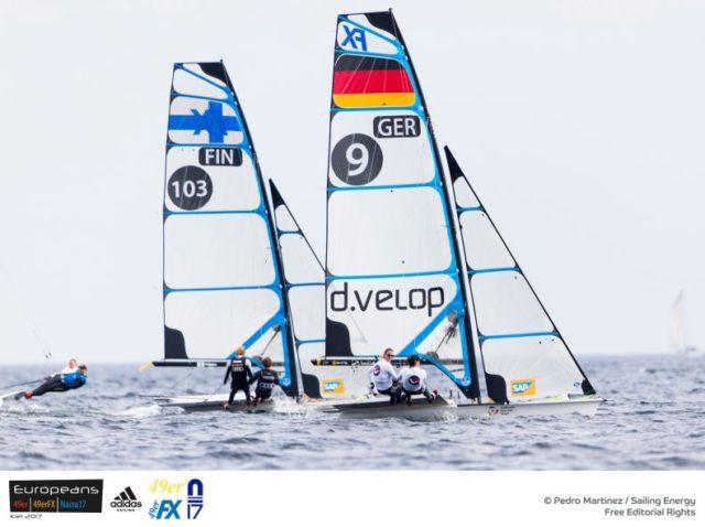 49er FX Europameisterschaft 2017 Kiel - Photo © Pedro Martinez / Sailing Energy