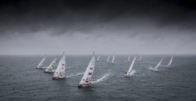 The Clipper 2017-18 Round the World Yacht Race Fleet - Copyright onEdition 2017