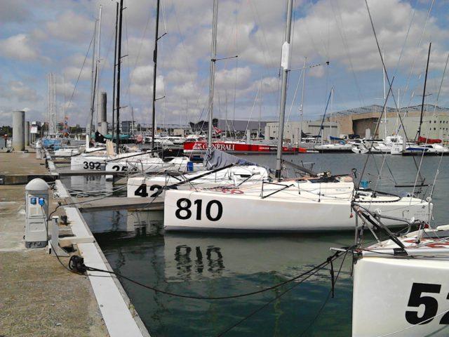 Lorient - Classe Mini im Hafenbecken - Photo © S. Rausch
