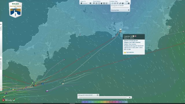 Rolex Fastnet Race 2017 - CONCISE 10 im Ziel - Screenshoot © YB Racetracker