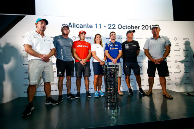Alicante stopover. Skippers Press Conference. Photo by Pedro Martinez/Volvo Ocean Race. 20 October, 2017.