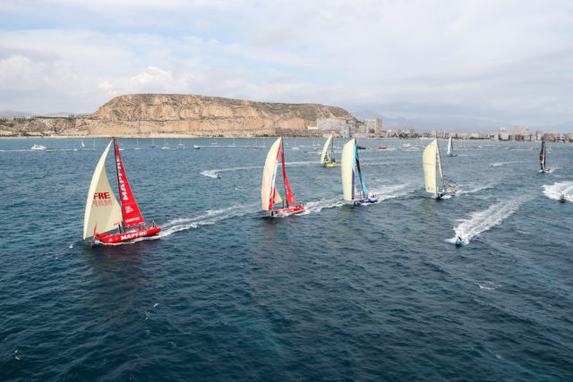 Alicante stopover. Leg 01 start. Photo by Ainhoa Sanchez/Volvo Ocean Race. 22 October, 2017.