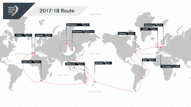 Volvo Ocean Race 2017-18 Route Map - Photo © VOR