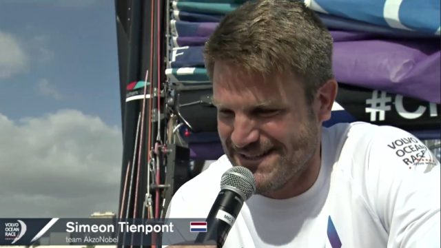 VOR 2017/18 - Simeon Tienpont, Skipper Team Akzo Nobel - Screenshot © VOR Website 2017