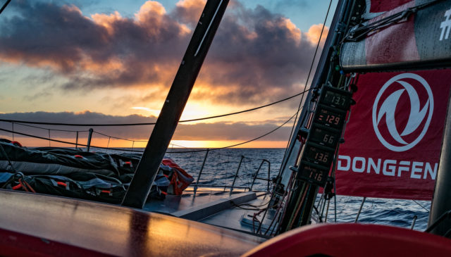 Leg 02, Lisbon to Cape Town, day 14, on board Dongfeng. Photo by Jeremie Lecaudey/Volvo Ocean Race. 18 November, 2017.