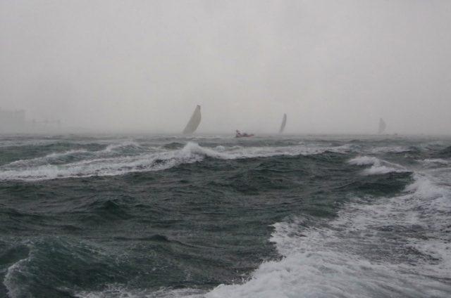 VOR Lissabon -Inport Race - Downwind Ziel - Photo © SailingAnarchy.de
