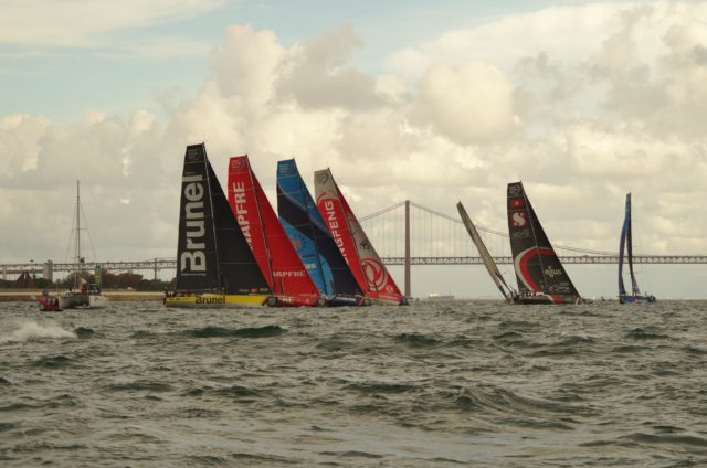 VOR Lissabon -Inport Race - Start - Photo © SailingAnarchy.de