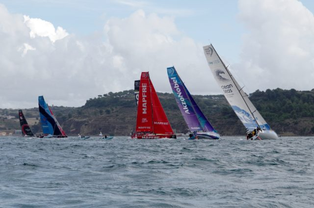VOR Lissabon -Inport Race - Startkreuz - Photo © SailingAnarchy.de