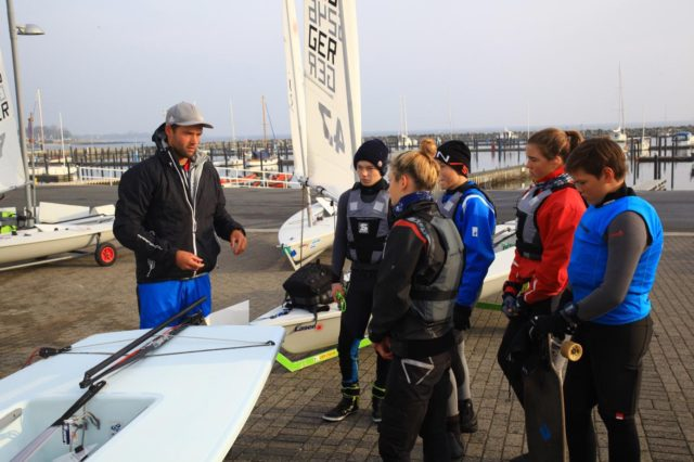 Laser 4.7 Training in Kiel mit Philipp Buhl - Photo © Matthias Sator 2017