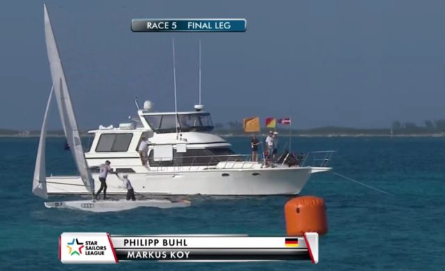 Star Sailors League 2018 - Finals Bahamas - Rennen 5 - Sieger Buhl und Koy - Screenshot © SSL