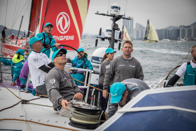HGC In-Port Race onboard team AkzoNobel in Hong Kong. 27 January, 2018 - Photo © Pedro Martinez/Volvo Ocean Race