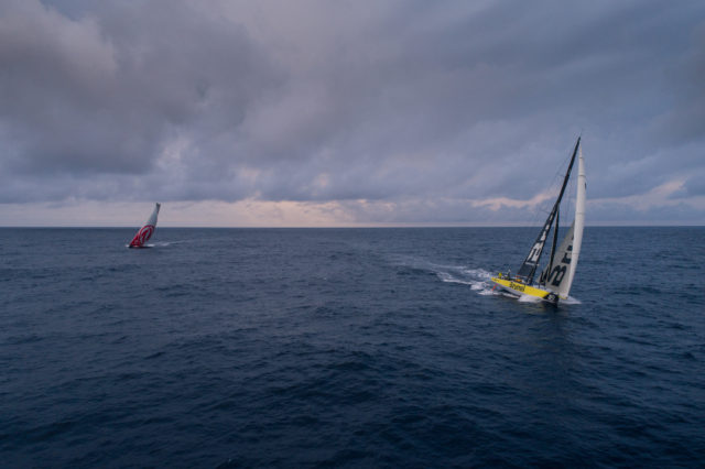 Leg 6 to Auckland, day 04 on board Brunel. Brunel and Dongfeng. 10 February, 2018- Photo © Yann Riou/Volvo Ocean Race