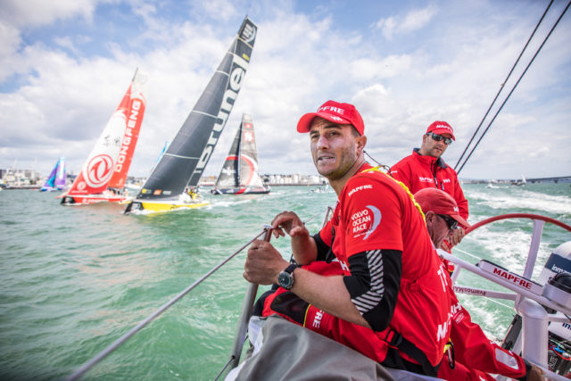 Leg 7 from Auckland to Itajai, day 01 on board MAPFRE. Start day. 18 March, 2018 - Photo: Ugo Fonolla / Volvo Ocean Race