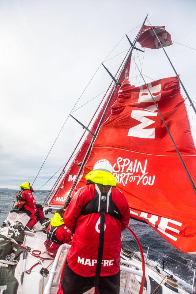 VOR 2018 Leg 7 from Auckland to Itajai, Tag 12, MAPFRE - Großsegel zerreißt vor Kap Hoorn - Photo © Ugo Fonolla / Volvo Ocean Race