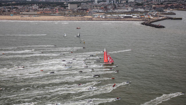 Leg 11, from Gothenburg to The Hague, arrival DONGFENG, 24 June, 2018 - Photo © Jen Edney/Volvo Ocean Race