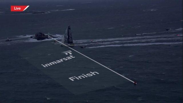Brunel gewinnt Leg 10 des Volvo Ocean Race vor Göteborg - © Screenshot VOR
