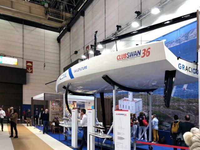 CLUBSWAN 36 - boot 2020 - Unterwasserschiff mit Foil, Finne und Doppelruder - Photo © Anarchist Sascha 2020