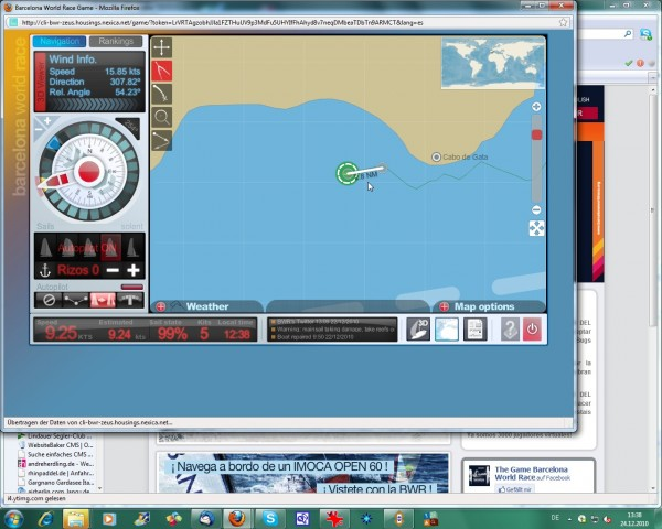 BWR - Virtuelle Regatta - Probleme